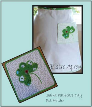 Apron & Pot Holder for Saint Pattys day